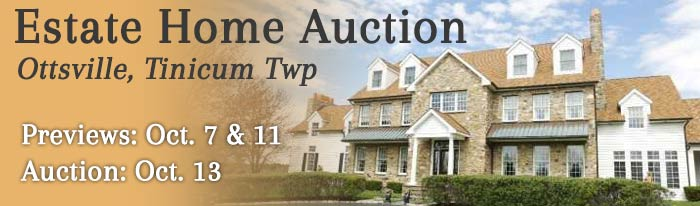 Bucks County District Attorney orders this 6000+/- square foot residence on over 4 acres to be sold at Auction on October 13, 2018 at 11:00 AM. There will be open houses to view this property on Sunday, October 7, 2018 from 1:00 to 3:00 PM and Thursday, October 11, 2018 from 4:00 to 6:00 PM.