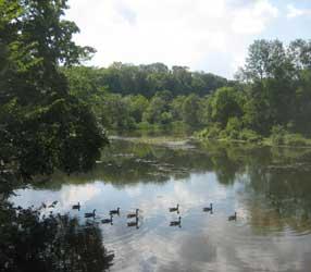 Beautiful scenery in Clinton, Hunterdon County, NJ